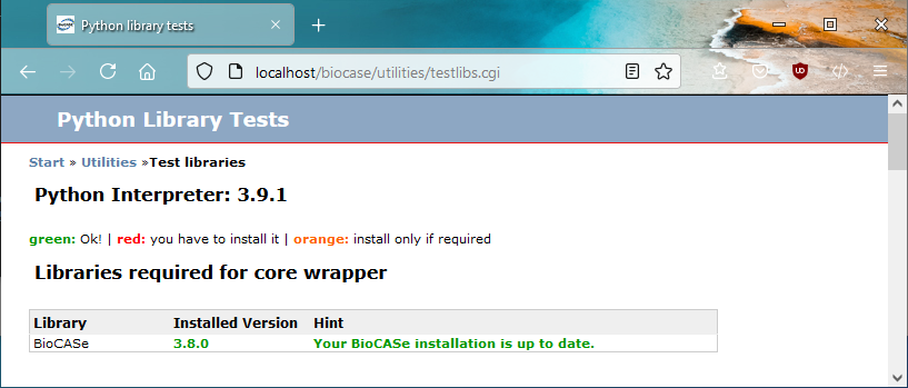 Installation - BioCASe Provider Software